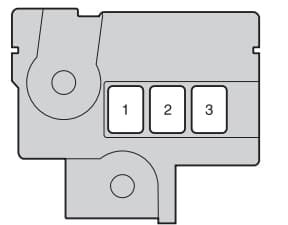 Toyota Verso S - fuse box - engine compartment (type C - vehicles with a diesel engine)