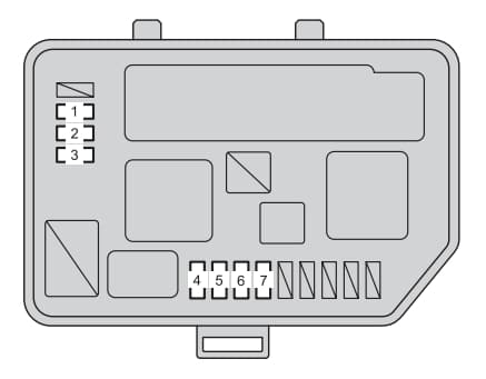 Toyota Yaris Hatchback mk3 - fuse box - engine compartment type B