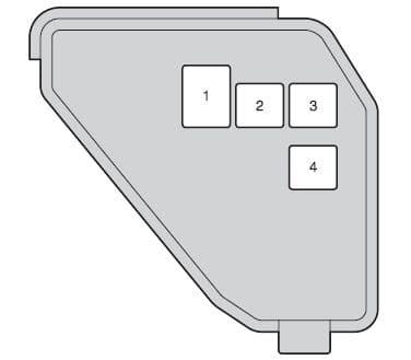 Toyota Yaris Hybrid mk3 - fuse box - engine compartment (type B)