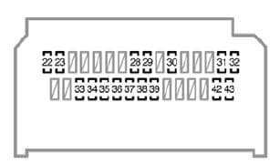 Toyota Yaris mk2 - instrument panel (type B)