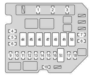 Toyota Yaris mk2 - engine compartment