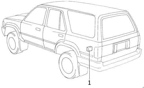 Toyota 4Runner - fuse box diagram