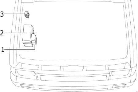 Toyota 4Runner - fuse box diagram - engine compartment (22R-E)