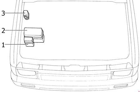 Toyota 4Runner - fuse box diagram - engine compartment (3VZ-E)