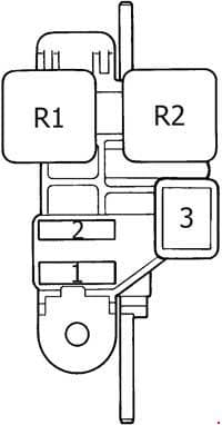 Toyota 4Runner - fuse box diagram - passenger compartment additional fuse box