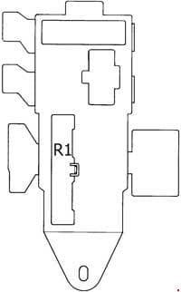 Toyota 4Runner - fuse box diagram - passenger compartment fuse box