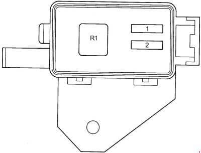Toyota Avensis - fuse box diagram - engine compartment additional fuse box