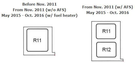 Toyota Avensis - fuse box diagram - engine compartment fuse box C