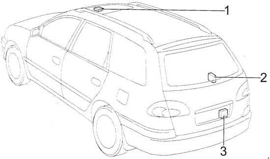 Toyota Avensis - fuse box diagram - estate