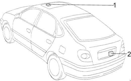 Toyota Avensis - fuse box diagram - liftback