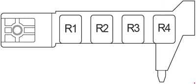 Toyota Avensis - fuse box diagram - passenger compartment relay box LHD