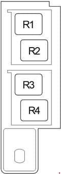 Toyota Avensis - fuse box diagram - passenger compartment relay box