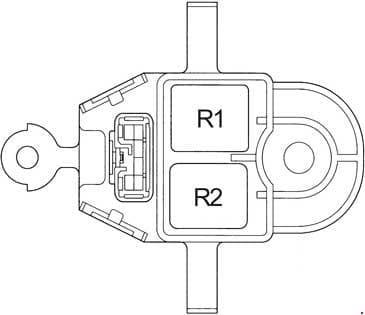 Toyota Avensis - fuse box diagram - relay box