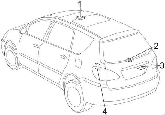 Toyota Avensis Verso - fuse box diagram - location