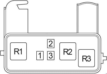 Toyota Avensis Verso - fuse box diagram - relay box