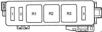Toyota Camry - fuse box diagram - engine compartment - wagon (RHD)