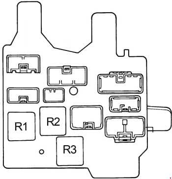 Toyota Camry - fuse box diagram - passenger compartment relay box