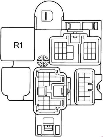 Toyota Camry - fuse box diagram - right kick panel rhd