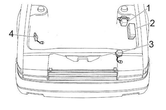 Toyota Corolla - fuse box diagram - engine compartment