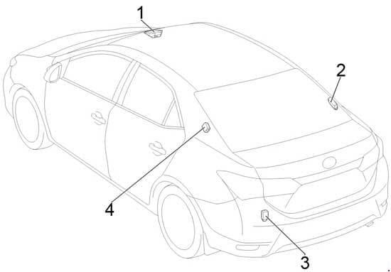 Toyota Corolla - fuse box diagram - location - sedan