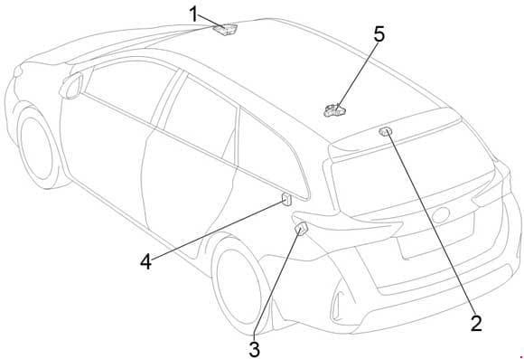 Toyota Corolla - fuse box diagram - location - wagon
