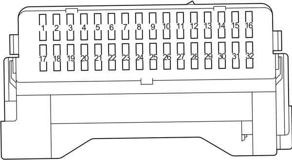 Toyota Corolla - fuse box diagram - passenger compartment - instrument panel
