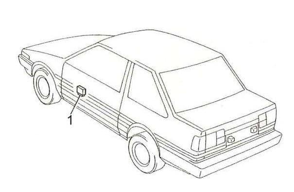 Toyota Corolla - fuse box diagram - passenger compartment fuse relay