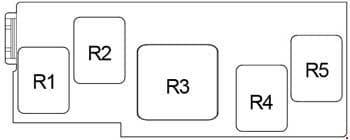 Toyota Corolla - fuse box diagram - passenger compartment relay box