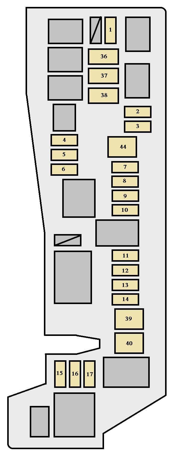 Toyota Corolla mk9 - fuse box - engine compartment