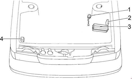 Toyota Cressida - fuse box diagram - engine compartment