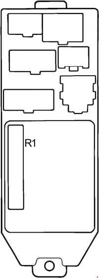 Toyota Cressida - fuse box diagram - passenger compartment fuse box