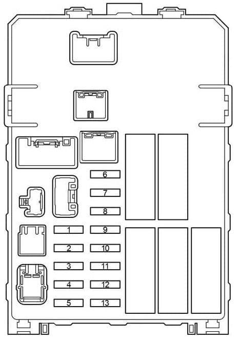 Toyota Fourtour - fuse box diagram -  passenger compartment fuse box