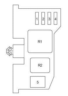 Toyota Fourtour - fuse box diagram -  passenger compartment relay box