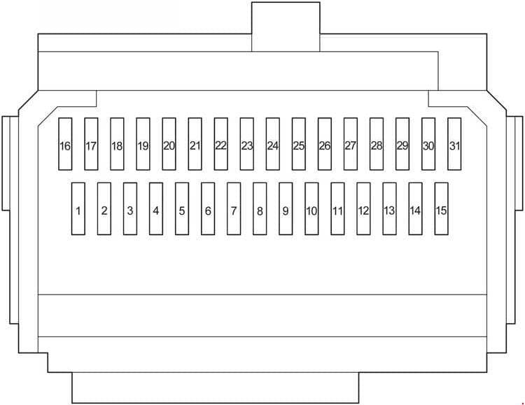 Toyota HiAce - fuse box diagram - passenger comaprtment box