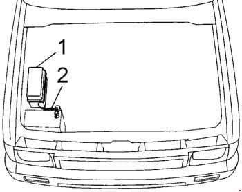 Toyota Hilux - fuse box diagram - engine compartment