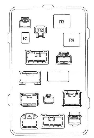 Toyota Hilux - fuse box diagram - passenger compartment fuse box