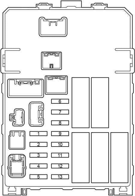 Toyota Hilux - fuse box diagram - passenger compartment - fuse box
