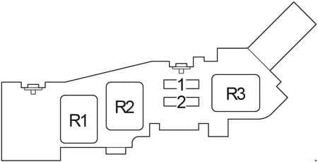 Toyota Ipsum - fuse box diagram - engine compartment