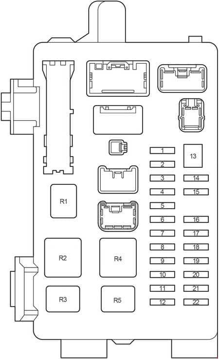 Toyota Ipsum - fuse box diagram - passenger compartment