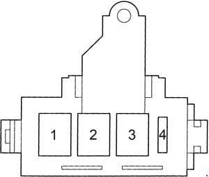 Toyota Land Cruiser 100 - fuse box diagram - fusible link block