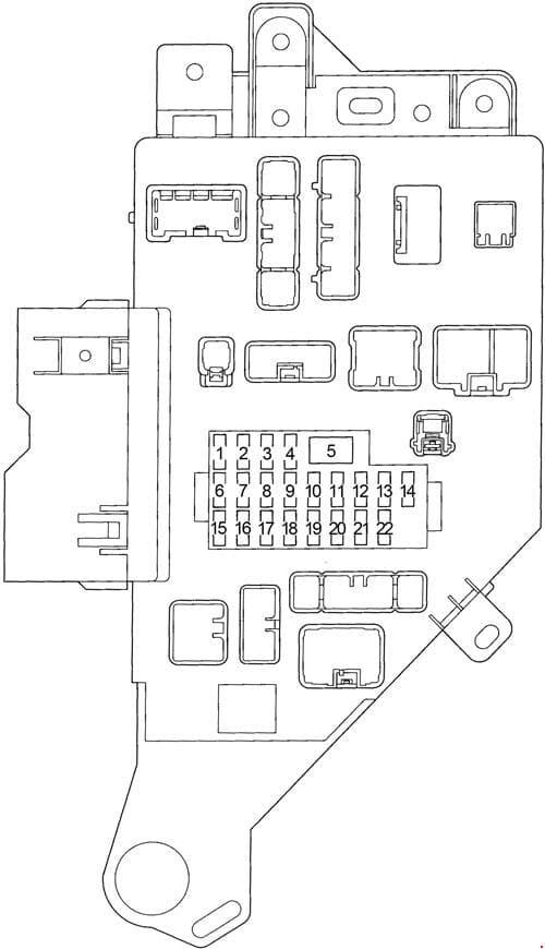 Toyota Land Cruiser 100 - fuse box diagram -  passenger compartment