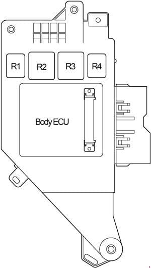 Toyota Land Cruiser 100 - fuse box diagram -  passenger compartment (left)