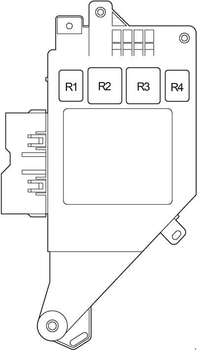Toyota Land Cruiser 100 - fuse box diagram -  passenger compartment (right)