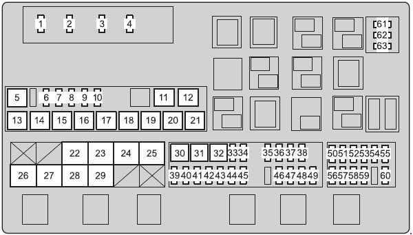 Toyota Land Cruiser - fuse box diagram - engine compartment