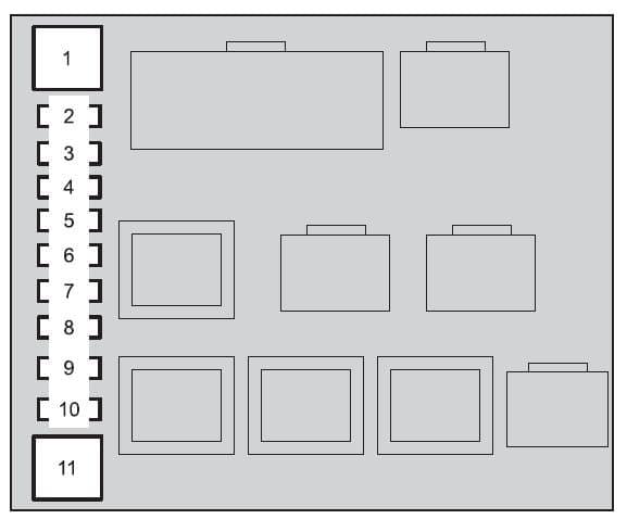Toyota Land Cruiser - fuse box - engine compartment