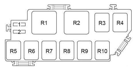 Toyota Prius - fuse box diagram - engine compartment fuse box