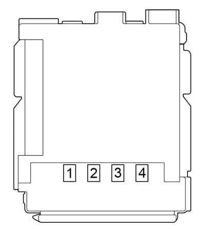 Toyota- Prius - fuse box diagram - passenger compartment fuse box