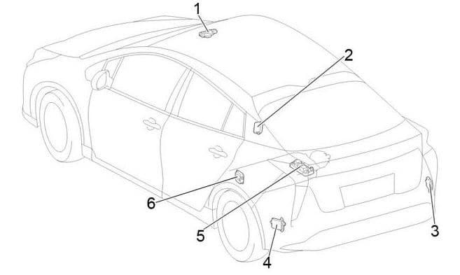 Toyota Prius - fuse box diagram - passenger compartment relay box