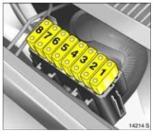 Vauxhall Meriva A - fuse box - engine compartment