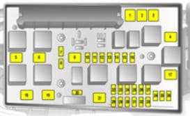 Vauxhall Astra 5th Generation - fuse box - engine compartment - version B